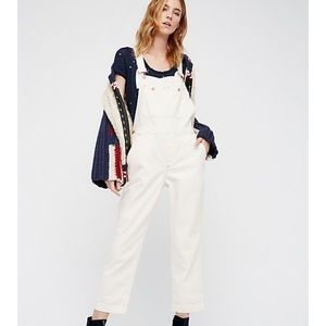 Free People natural overalls